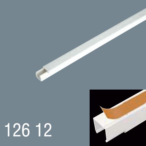 12x12 PVC Yapışkan Bantlı Kablo Kanalı 126 12