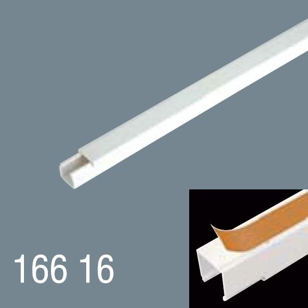 16x16 PVC Yapışkan Bantlı Kablo Kanalı 166 16
