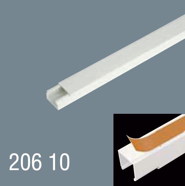 20x10 PVC Yapışkan Bantlı Kablo Kanalı 206 10