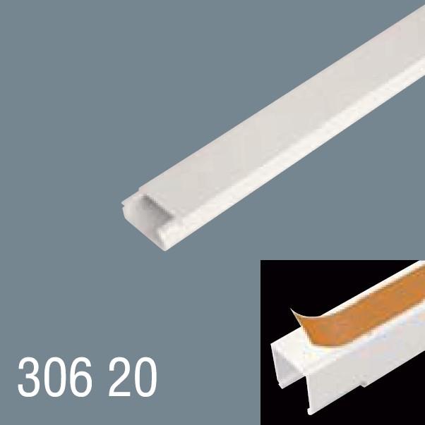 30x20 PVC Yapışkan Bantlı Kablo Kanalı 306 20