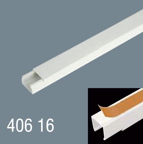 40x16 PVC Yapışkan Bantlı Kablo Kanalı 406 16