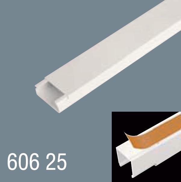 60x25 PVC Yapışkan Bantlı Kablo Kanalı 606 25