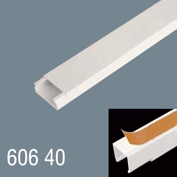 60x40 PVC Yapışkan Bantlı Kablo Kanalı 606 40
