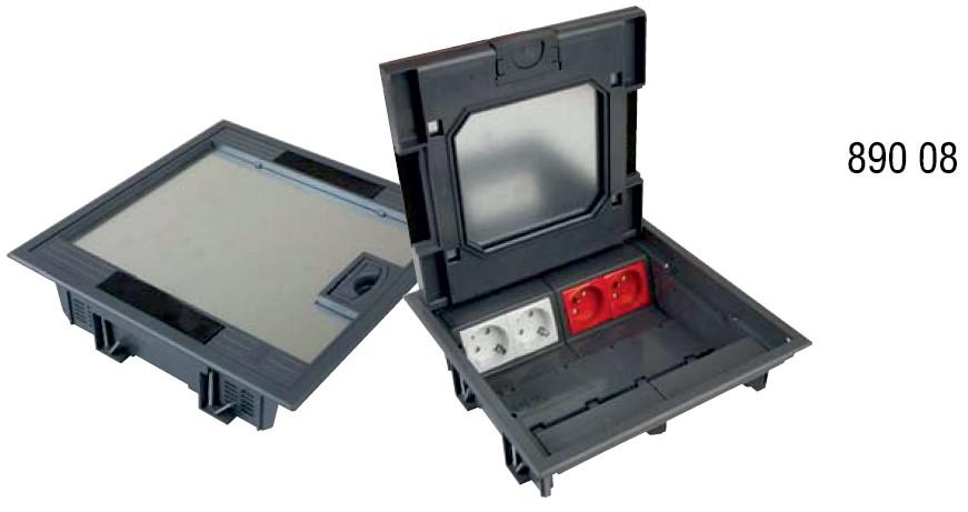 Doşeme Altı Çıkış Kutusu 16 Modül 45x22.5mm 890 08